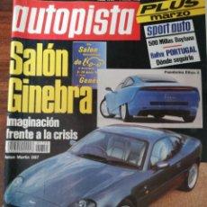 Coches: AUTOPISTA Nº 1755 - MARZO 1993 - CITROEN XANTIA / PONTIAC TRANS SPORT / SAAB 9000 AERO / VENTO TD. Lote 294169573