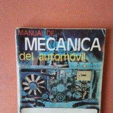 Coches: MANUAL DE MECANICA DEL AUTOMOVIL. ENSEÑANZA TEÓRICA. EDITORIAL PONS.. Lote 294174648