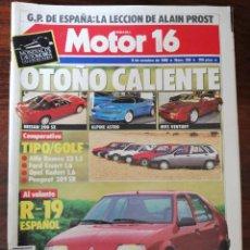 Coches: MOTOR 16 Nº 259 - OCTUBRE 1988 - RENAULT 19 / ALFA 33 1.5 / OPEL KADETT 1.6 / PEUGEOT 309 SR / FORD. Lote 294279633