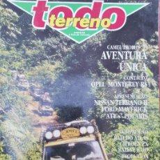 Coches: 1989 REVISTA TODO TERRENO - OPEL MONTEREY - NISSAN TERRANO - CAMEL TROPHY - PASSEIO LAND ROVER. Lote 294866863