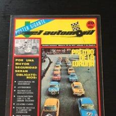 Coches: EL AUTOMOVIL RACING Nº 26 DE 1971 - COPA TS RENAULT PREMIO CORUÑA RALLYE BOSCH SUBIDA FIAT 128 RALLY. Lote 295415028