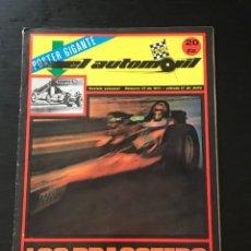 Coches: EL AUTOMOVIL RACING Nº 23 DE 1971 - DRAGSTER PEDRO RODRIGUEZ SUBIDA GUIMAR KARTING AUTHI MINI VAN. Lote 295415923