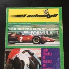 Coches: EL AUTOMOVIL RACING Nº 3 DE 1971 - FORMULA ATLANTIC ROLLS ROYCE LANCIA STRATOS BERTONE FANGIO RALLY. Lote 295418138
