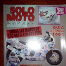 Coches y Motocicletas: REVISTA SOLO MOTO ACTUAL - JULIO 1992 - Nº 841 . Lote 4446866