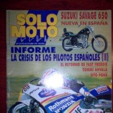 Coches y Motocicletas: REVISTA SOLO MOTO ACTUAL - OCTUBRE 1992 - Nº 857. Lote 4446952