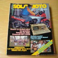 Coches y Motocicletas: REVISTA SOLO MOTO 30 NUMERO 36 ENERO Y FEBRERO 1986. Lote 7937865