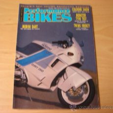 Coches y Motocicletas: REVISTA MOTO PERFORMANCE BIKES NOVEMBER 1988 EN INGLES MORINI. Lote 7974060