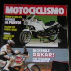 Coches y Motocicletas: MOTOCICLISMO Nº 1143 - ENERO 1990 - BMW K 100 RS / HONDA RC 30 SUPERBIKE / DAKAR. Lote 11943039