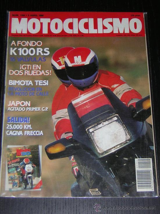 MOTOCICLISMO Nº 1154 - ABRIL 1990 - BMW K 100 RS / BIMOTA TESI / CAGIVA FRECCIA (Coches y Motocicletas - Revistas de Motos y Motocicletas)