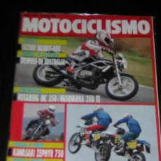 Coches y Motocicletas - MOTOCICLISMO Nº 1208 - ABRIL 1991 - KAWASAKI ZEPHYR 750 / HUSQVARNA 350 TE / SUZUKI BANDIT 400 - 15070715