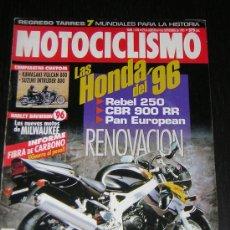 Coches y Motocicletas: MOTOCICLISMO Nº 1436 - AGO 1995 - KAWASAKI VULCAN 800 / SUZUKI INTRUDER 800 / NOVEDADES HONDA . Lote 16172797