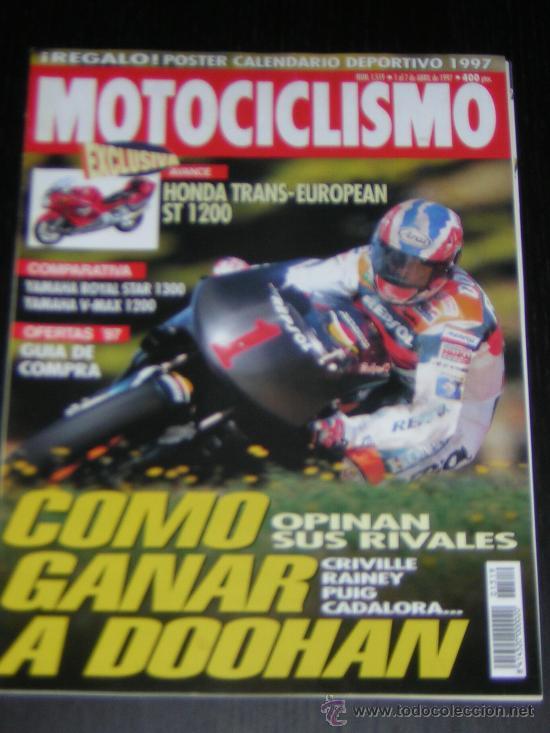 Calendario Max 1997.Motociclismo Nº 1519 Abr 1997 Yamaha V Max 1200 Yamaha Royal Star 1300 Kawasaki Zrx 1100