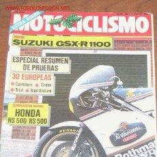 Coches y Motocicletas: MOTOCICLISMO Nº 934 - SUZUKI GSX 1100 R / HONDA NS 500 / PARIS DAKAR. Lote 23677192