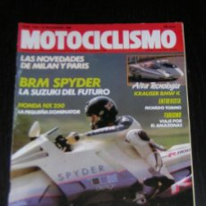 Coches y Motocicletas: MOTOCICLISMO Nº 1135 - NOV 1989 - BRM SPYDER / HONDA NX 250 / RICARDO TORMO / COPA YAMAHA. Lote 20086566
