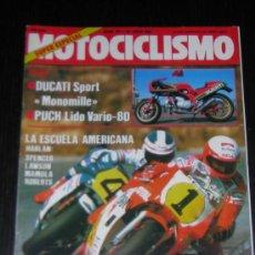 Coches y Motocicletas: MOTOCICLISMO Nº 911 - JULIO 1985 - 24 HORAS MONTJUIC / MASSIMO TAMBURINI / DUCATI SPORT MONOMILLE. Lote 10029079