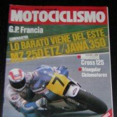 Coches y Motocicletas: MOTOCICLISMO Nº 912 - JULIO 1985 - 24 HORAS MONTJUIC / JAWA 350 / MZ 250 ETZ / GP FRANCIA / BAJA. Lote 14784874