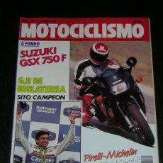Coches y Motocicletas: MOTOCICLISMO Nº 1120 - AGO 1989 - SUZUKI GSX 750 F / KAWASAKI KDX 200 / GP INGLATERRA. Lote 10099761