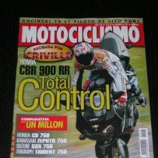 Coches y Motocicletas - MOTOCICLISMO Nº 1556 - DIC 1997 - HONDA CBR 900 RR - CB 750 / SUZUKI GSX 750 / KAWASAKI ZEPHYR 750 - 10134481