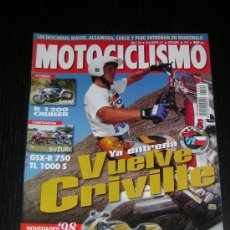 Coches y Motocicletas: MOTOCICLISMO Nº 1540 - AGO 1997 - BMW R 1200 C / SUZUKI GSX R 750 - TL 1000 S / KTM EGS E 400-620 . Lote 33758486