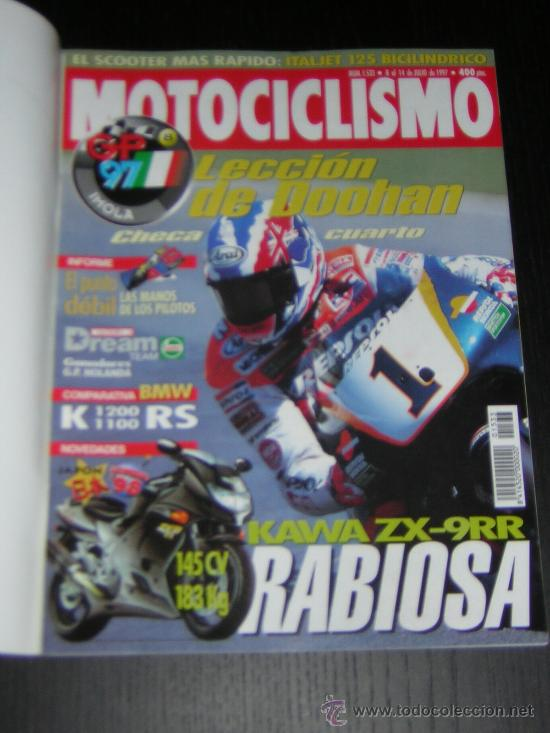 MOTOCICLISMO Nº 1533 - JUL 1997 - BMW K 1200 RS - K 1100 RS / GP IMOLA / 24 HORAS MONTJUIC (Coches y Motocicletas - Revistas de Motos y Motocicletas)