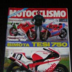 Carros e motociclos: MOTOCICLISMO Nº 880 - DIC 1984 - KAWASAKI GPZ 900 R / DUCATI PANTAH TT1 / BMW PARIS DAKAR / BIMOTA. Lote 96465403