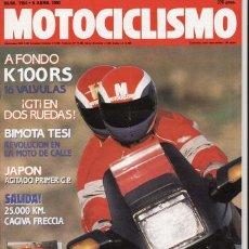 Coches y Motocicletas: REVISTA MOTOCICLISMO Nº 1154 AÑO 1990. PRUEBA: BMW K 100 RS, CAGIVA RRECCIA 25.000 KM.. Lote 27124331