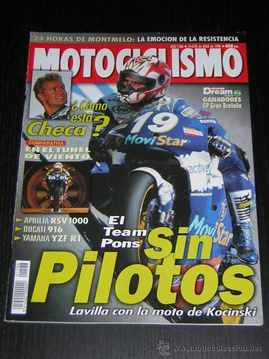 MOTOCICLISMO Nº 1586 - JUL 1998 - KAWASAKI VN 1500 / TRIUMPH SPRINT 900 - T 695 / 24 HORAS CATALUÑA (Coches y Motocicletas - Revistas de Motos y Motocicletas)