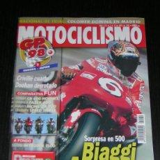 Coches y Motocicletas: MOTOCICLISMO Nº 1572 - ABR 1998 - DUCATI MONSTER 900 S / HONDA CB 600 F / YAMAHA FZS 600 FAZER . Lote 10165164