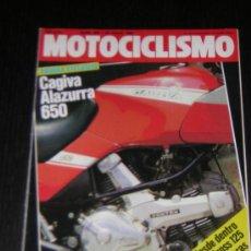 Coches y Motocicletas: MOTOCICLISMO Nº 862 - JUL 1984 - CAGIVA ALAZURRA 650 / 24 HORAS MONTJUIC / MH 50 SPORT / MOTO CROSS. Lote 10167228