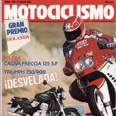 Coches y Motocicletas: REVISTA MOTOCICLISMO NÚMERO 1167 AÑO 1990. PRUEBA: CAGIVA FRECCIA 125. TRIUMPH 750/900.. Lote 22061725