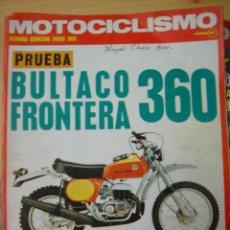 Coches y Motocicletas: REVISTA MOTOCICLISMO SEGUNDA QUINCENA ENERO 1975 BULTACO FRONTERA 360. Lote 102403316