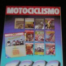 Coches y Motocicletas: MOTOCICLISMO Nº 1000 - ABR 1987 - NUMERO ESPECIAL / MV AGUSTA 500 350 CUATRO / DERBI CARRERAS / GSXR. Lote 14797934