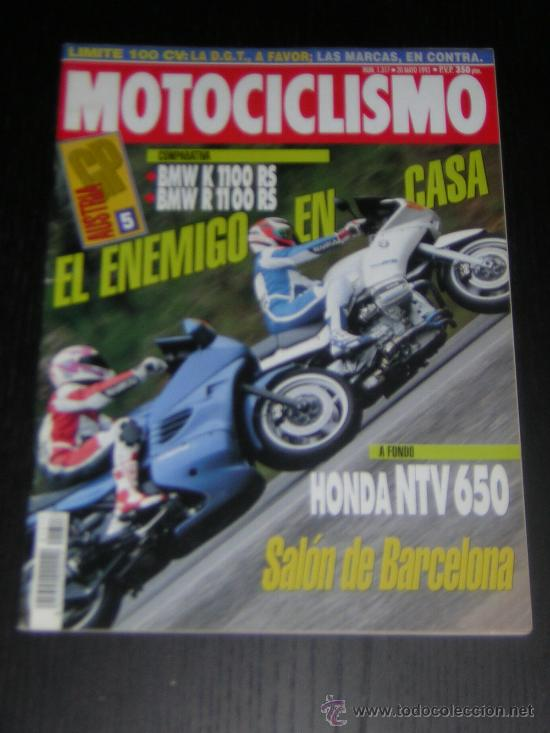 MOTOCICLISMO Nº 1317 - MAY 1993 - BMW K 1100 RS - BMW R 1100 RS / HONDA NTV 650 / GP AUSTRIA (Coches y Motocicletas - Revistas de Motos y Motocicletas)