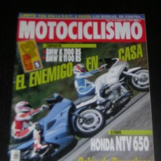 Coches y Motocicletas: MOTOCICLISMO Nº 1317 - MAY 1993 - BMW K 1100 RS - BMW R 1100 RS / HONDA NTV 650 / GP AUSTRIA. Lote 10253939