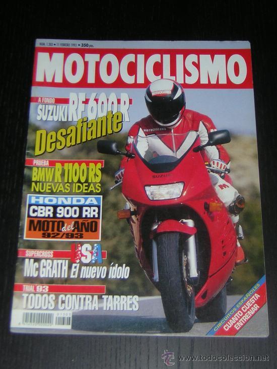MOTOCICLISMO Nº 1303 - FEB 1993 - SUZUKI RF 600 R / BMW R 1100 RS / TRIUMPH TRIDENT 900 / SUPERCROSS (Coches y Motocicletas - Revistas de Motos y Motocicletas)
