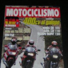 Coches y Motocicletas: MOTOCICLISMO Nº 1269 - JUN 1992 - HONDA CBR 1000 F / KAWASAKI ZZR 1100 / TRIUMPH TROPHY 1200 / TRIAL. Lote 57363279