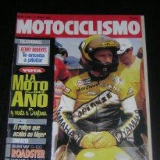 Coches y Motocicletas: MOTOCICLISMO Nº 1248 - ENE 1992 - BMW R 100 ROADSTER / HONDA CB 750 / HONDA NSR 250 CADALORA . Lote 10254667