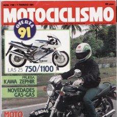 Coches y Motocicletas - REVISTA MOTOCICLISMO Nº 1198 AÑO 1991. PRUEBA: KAWASAKI ZEPHYR 750. - 47644684