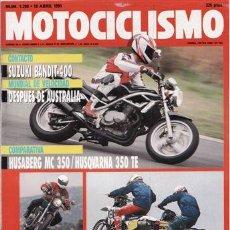 Coches y Motocicletas - REVISTA MOTOCICLISMO Nº 1208 AÑO 1991. PRUEBA: SUZUKI BANDIT 400. KAWASAKI ZEPHYR 750. - 35947504