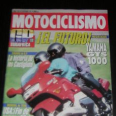 Coches y Motocicletas: MOTOCICLISMO Nº 1281 - SEP 1992 - YAMAHA GTS 1000 / HONDA CBR 600 / SUZUKI RF 600 R / GAMA HARLEY. Lote 11457304