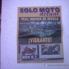 Coches y Motocicletas: REVISTA DE MOTOCICLISMO SOLO MOTO DE 1989(CREVILLE - MAMOLA -WAYNE GARDNER. Lote 10316814