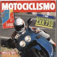Coches y Motocicletas: REVISTA MOTOCICLISMO Nº 1217 AÑO 1991. PRUEBA: KAWASAKI ZXR 750. COMP: ENDURO: HONDA XR 600 R. Lote 126747579
