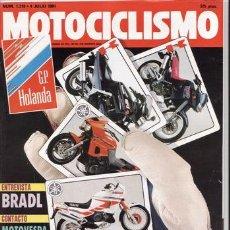 Coches y Motocicletas: REVISTA MOTOCICLISMO Nº 1219 AÑO 1991. PRUEBA: VESPA SFERA, FANTIC K-ROO, YAMAHA CROSS (92).. Lote 116231491