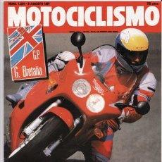 Coches y Motocicletas: REVISTA MOTOCICLISMO Nº 1224 AÑO 1991. PRUEBA: TRIUMPH DAYTONA, YAMAHA VIRAGO 1100, APRILIA AF 1.. Lote 27283797