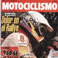 Coches y Motocicletas: REVISTA MOTOCICLISMO Nº 1247 AÑO 1992. PRU: DUCATI 750 SS DESMO. HONDA CB TWO FITY. TM 125 E.. Lote 27398099