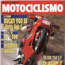 Coches y Motocicletas: REVISTA MOTOCICLISMO Nº 1251 AÑO 1992. PRUEBA: DUCATI 900 SS. SUZUKI DR 350 SH.. Lote 27418124