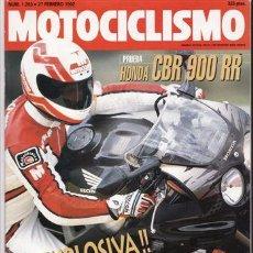 Coches y Motocicletas: REVISTA MOTOCICLISMO Nº 1253 AÑO 1992. PRUEBA: HONDA CBR 900 RR. COMP: CROSS 125 KTM, HONDA CR 125. Lote 27418126
