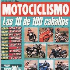 Coches y Motocicletas: REVISTA MOTOCICLISMO Nº 1270 AÑO 1992. PRUEBAS: DUCATI 900 SS. HONDA AFRICA TWIN (92).. Lote 27418177