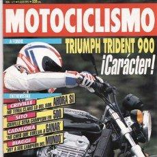 Coches y Motocicletas: REVISTA MOTOCICLISMO Nº 1272 AÑO 1992. PRUEBA: TRIUMPH TRIDENT 900. PEUGEOT SV 80.. Lote 27418179