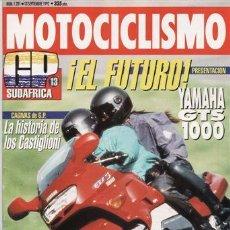 Coches y Motocicletas: REVISTA MOTOCICLISMO Nº 1281 AÑO 1992. PRUEBA: YAMAHA GTS 1000. COMP: SUZUKI RF600 Y HONDA CBR 600.. Lote 27441526